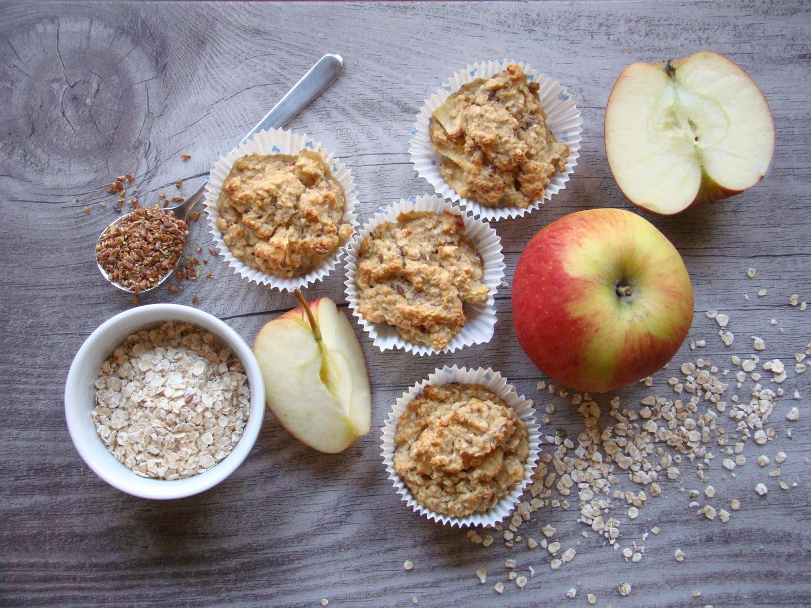 BWL Frühstücksmuffins Apfel Haferflocken